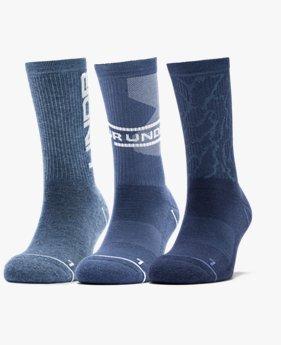 Men's UA Phenom Novelty Crew – 3-Pack Socks