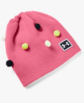 Girls' UA Multi Hair Pom Beanie