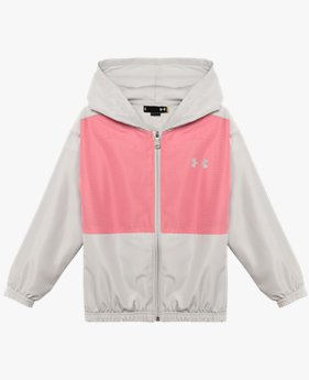 Girls' Pre-School UA Woven Zip Hoodie