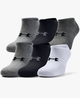 Herren UA Essentials No Show Socken, 6er-Pack