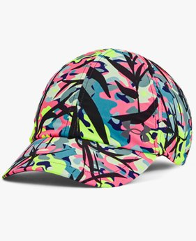 Gorra de running UA Launch Multi Hair para mujer