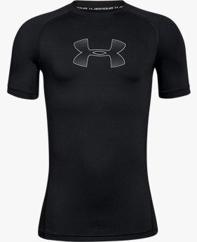 Erkek Çocuk HeatGear® Armour Kısa Kollu Dar Tişört