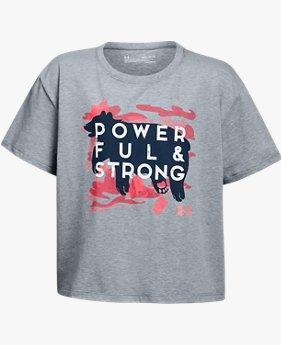 Playera UA Powerful & Strong para Niña