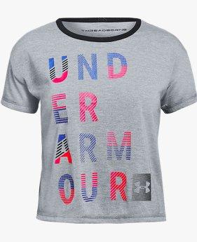 【アウトレット】UAスレッドボーンTシャツ(トレーニング/GIRLS)