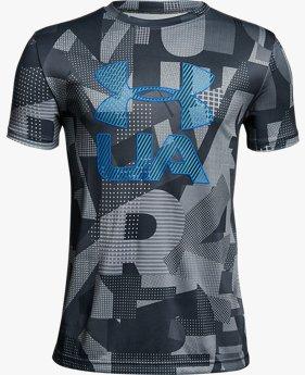 【アウトレット】UAテックTシャツ<PrintCroショートスリーブfade>(BOYS)