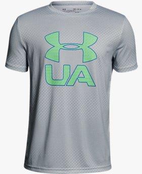 【アウトレット】UAテックTシャツ<PrintCroショートスリーブfade>(トレーニング/Tシャツ/BOYS)