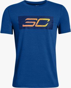 Erkek Çocuk SC30 Logo Kısa Kollu Tişört