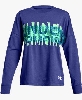 Kız Çocuk UA Overlay Branded Uzun Kollu Tişört