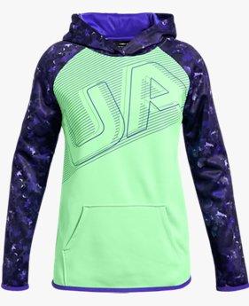 Kız Çocuk Armour Fleece® Big Logo Kapüşonlu Üst