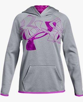 Kız Çocuk Armour Fleece® Print Logo Kapüşonlu Üst