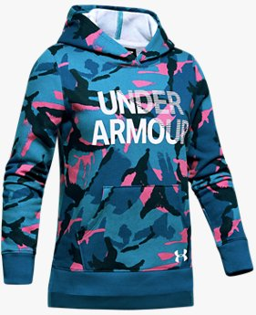 Girls' UA Rival Fleece Wordmark Hoodie