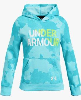 Kız Çocuk UA Rival Fleece Wordmark Kapüşonlu Üst