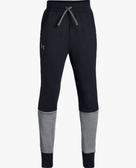 Pantalones UA Double Knit Tapered para niño