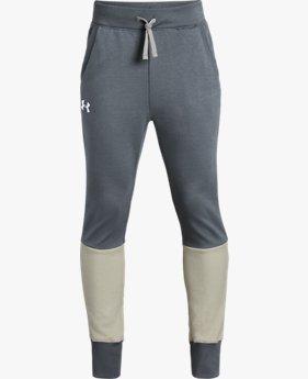Pantaloni affusolati UA Double Knit da ragazzo