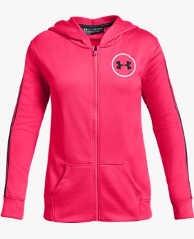 Moletom com capuz UA Huddle Up Fleece Full Zip infantil feminino