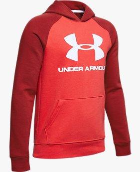 Sudadera con Capucha y el Logotipo de la Marca UA Rival para Niño