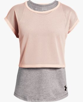 Girls' UA Infinity Layered Short Sleeve