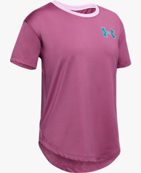 Girls' HeatGear® Armour Short Sleeve