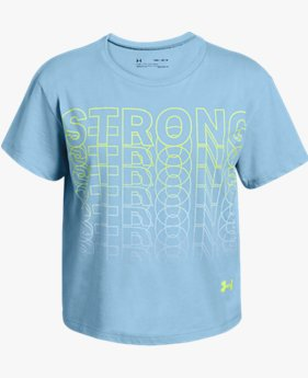 Girls' UA Strong Short Sleeve