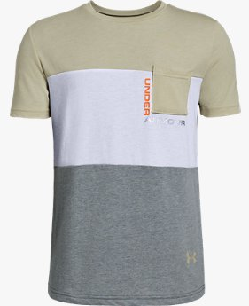Camiseta de Treino Infantil Masculina Under Armour Blocked Pocket