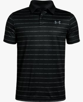 Boys' UA Tour Tips Stripe Polo