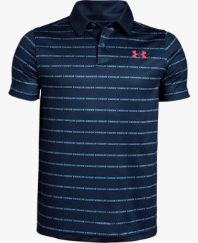 Playera Polo UA Tour Tips Stripe para Niño