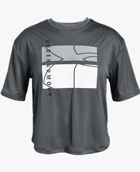 걸즈 UA 비트 더 히트 UPF 50 티셔츠