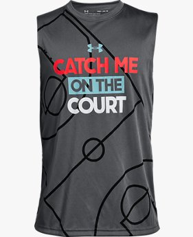 Boys' UA Catch Me On The Court Tank