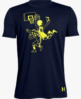 Camiseta UA Bball Selfie Infantil Masculino