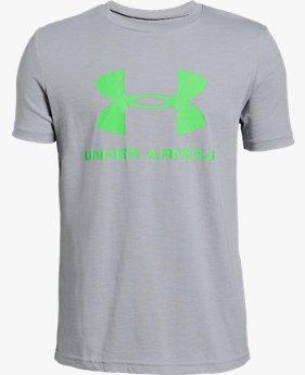 Camiseta de Treino Infantil Masculina Under Armour Sportstyle Logo