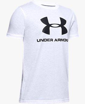 Maglia a manica corta UA Sportstyle Logo da ragazzo