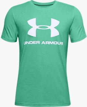 Haut à manches courtes UA Sportstyle Logo pour garçon