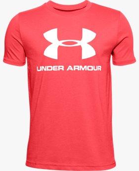 Jungen UA Sportstyle Shirt mit Logo, kurzärmlig