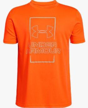 Kaos UA Vertical Box Fade untuk Pria Muda