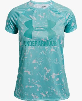 Camiseta de Treino Infantil Feminina Under Armour Big Logo Printed