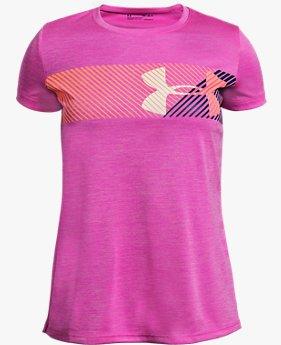 Kız Çocuk UA Hybrid Big Logo Kısa Kollu Tişört
