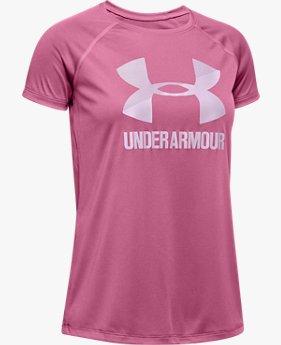 Girls' UA Big Logo Solid T-Shirt
