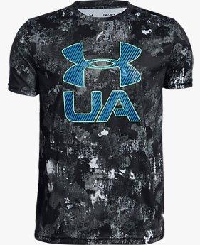 Erkek Çocuk UA Printed Crossfade Kısa Kollu Tişört