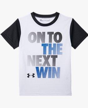 【アウトレット】UAショートスリーブ<ON TO THE NEXT WIN>(トレーニング/Tシャツ/LITTLE BOYS)