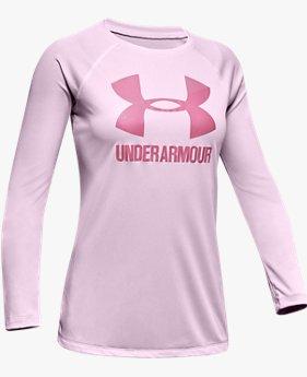 UA ビッグロゴ ロングスリーブ(トレーニング/Tシャツ/GIRLS)