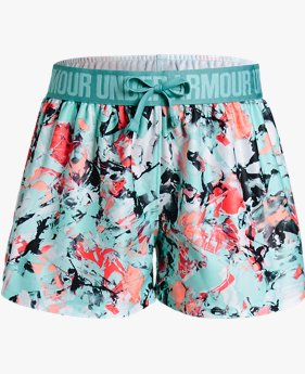 Girls' UA Play Up Printed Shorts