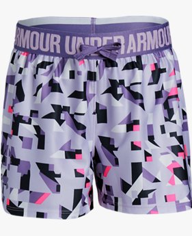 Shorts de Treino Infantil Feminino Under Armour Play Up Printed Novelty