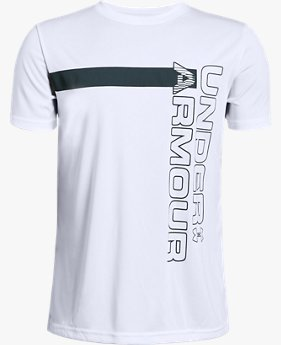 Camiseta de Treino Infantil Masculina Under Armour UV Wordmark