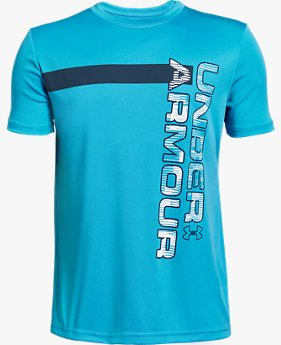 Jongens T-shirt UA UV Wordmark