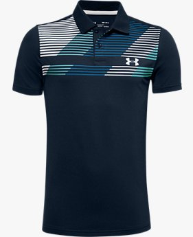 Boys' UA Performance Polo Textured Printed