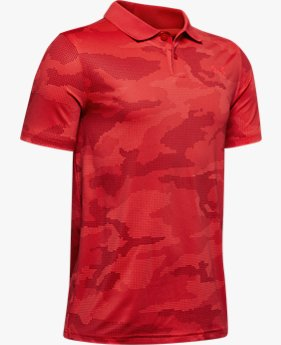 Polo UA Performance Textured Printed pour garçon