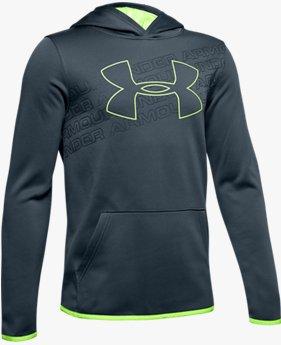 Erkek Çocuk Armour Fleece® Logo Kapüşonlu Üst
