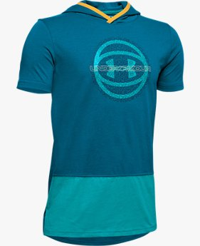 Boys' UA Baseline Short Sleeve Hoodie