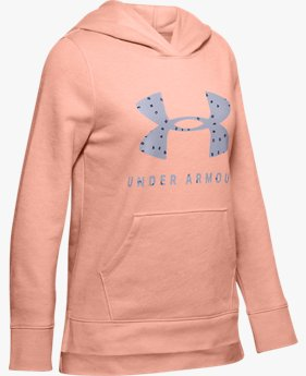 Mädchen UA Rival Hoodie mit Logo-Print
