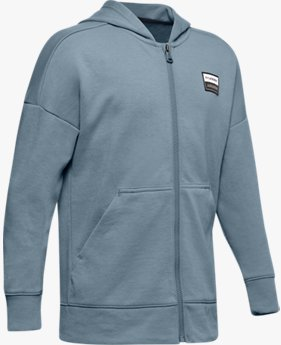 Boys' UA Unstoppable Double Knit Full Zip